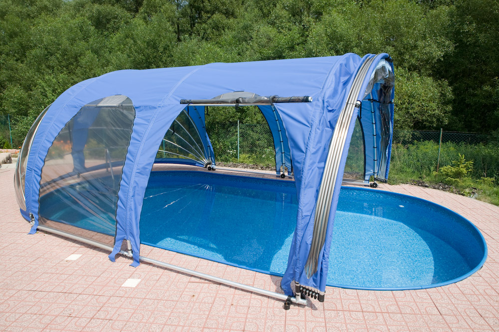Mobile roofing for Serre pour piscine hors sol